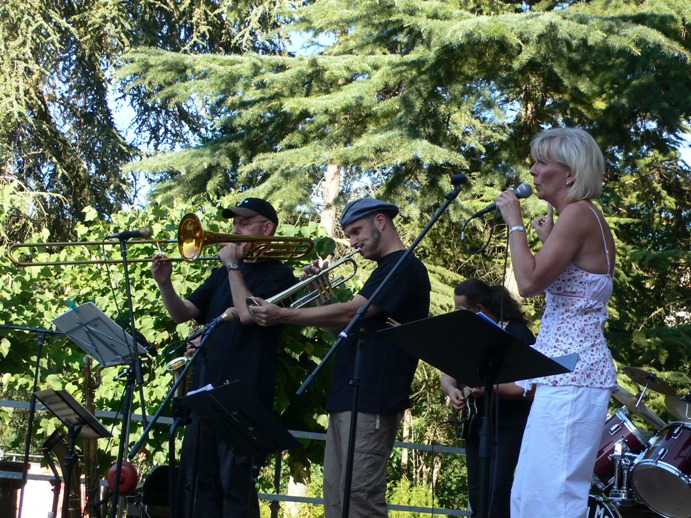 Saturday Moring Jazz Band in der Toscana. Bild 1